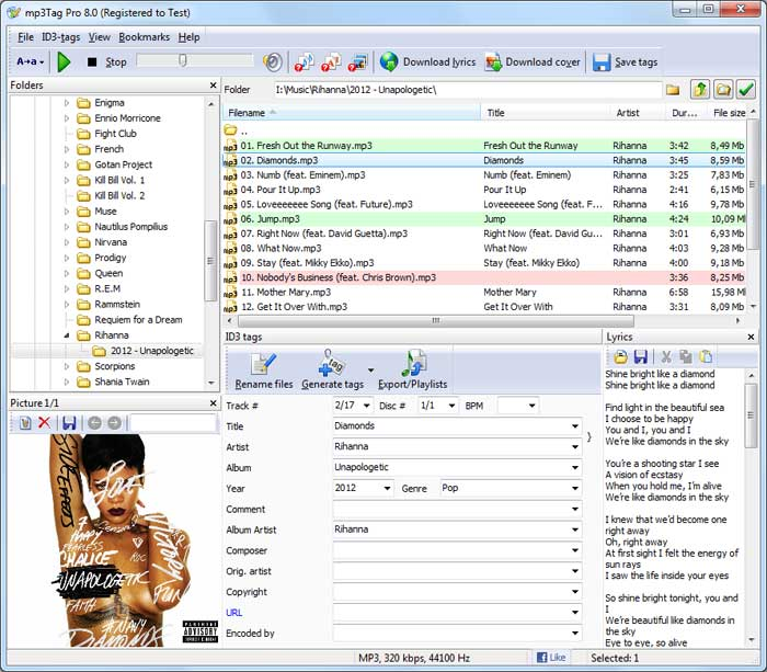 Click to view mp3Tag Pro screenshots