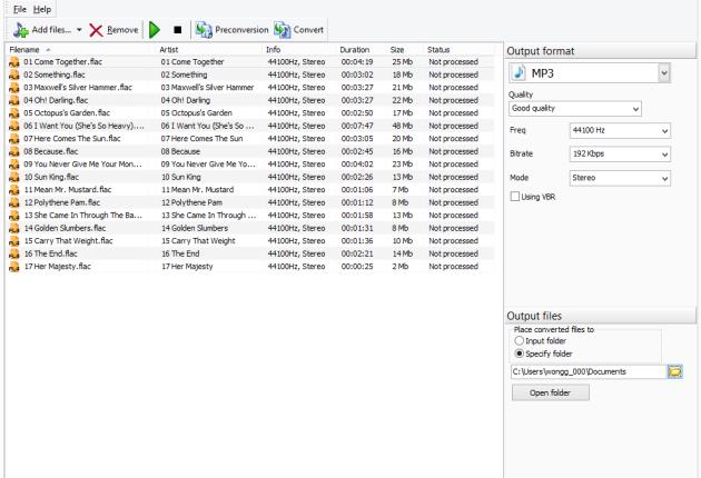 Audio Converter Studio main page