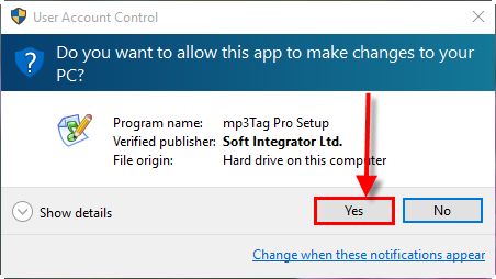 Allow the program to install itself