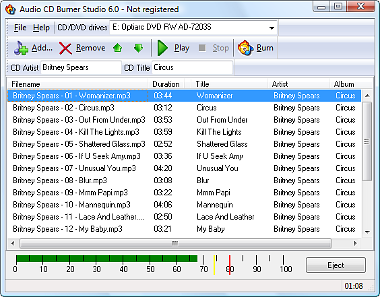 cd audio burning software