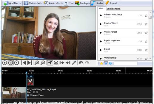 Screenshot of Video Editor Studio 10